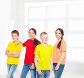 Niños felices del grupo Fotografía de archivo libre de regalías