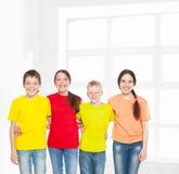 Niños felices del grupo Imágenes de archivo libres de regalías