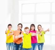 Niños felices del grupo Foto de archivo libre de regalías