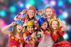 Niños felices en el carnaval Imágenes de archivo libres de regalías