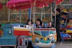 Niños felices en el parque Foto de archivo libre de regalías
