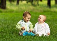 Niños felices lindos foto de archivo libre de regalías