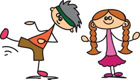 Niños felices lindos libre illustration