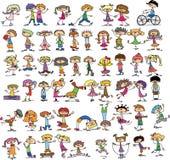 Niños felices lindos stock de ilustración