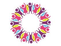 Niños felices en círculo Foto de archivo libre de regalías
