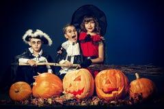Niños Halloween fotografía de archivo libre de regalías