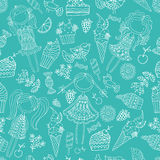 Niños, helado, caramelo Imagenes de archivo