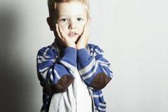 Niños hermosos de child.little boy.stylish kid.fashion Imagen de archivo libre de regalías