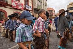Niños indígenas del quichua en Ecuador Fotos de archivo