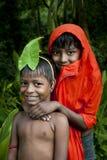 Niños indios del pueblo Fotografía de archivo