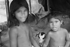 Niños indios del pueblo Foto de archivo libre de regalías