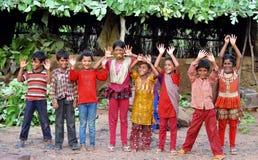 Niños indios rurales felices Fotos de archivo libres de regalías