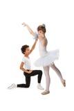 Niños interraciales que bailan junto Imagenes de archivo