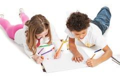 Niños interraciales que unen Fotos de archivo libres de regalías