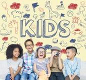 Niños Joy Happy Child Concept de los niños Imagen de archivo libre de regalías