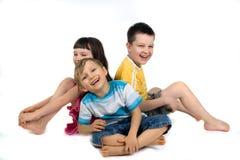 Niños juguetones Imagenes de archivo