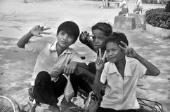 Niños laosianos del hmong Fotos de archivo libres de regalías