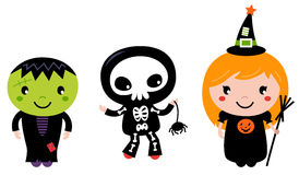 Niños lindos de Halloween libre illustration