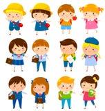Niños lindos de la escuela libre illustration
