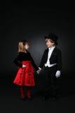 Niños lindos que llevan a cabo las manos Fotos de archivo