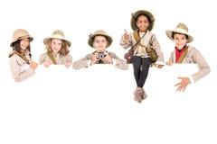 Niños listos para la aventura Foto de archivo libre de regalías