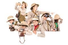 Niños listos para la aventura Fotos de archivo libres de regalías