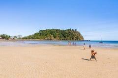 Niños malgaches en la playa Foto de archivo libre de regalías