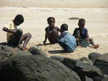 Niños malgaches nativos fotografía de archivo libre de regalías