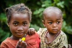 Niños malgaches pobres Fotografía de archivo libre de regalías