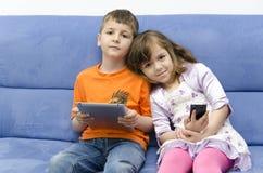 Niños modernos Foto de archivo