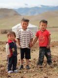 Niños mongoles Foto de archivo