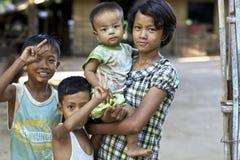Niños Myanmar Birmania Foto de archivo
