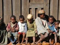 Niños nativos malgaches fotografía de archivo