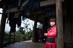 Niños no identificados del ` s del mong del ` de H en Sapa, Vietnam Fotografía de archivo libre de regalías