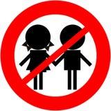 Niños no permitidos Imágenes de archivo libres de regalías