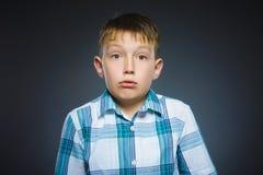 Niños pequeños asustados y chocados del primer Expresión humana de la cara de la emoción Fotografía de archivo libre de regalías