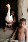 Niños pobres en la India fotografía de archivo libre de regalías