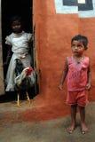 Niños pobres en la India Foto de archivo libre de regalías