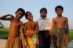Niños pobres en la India Fotografía de archivo