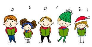 Niños que cantan Foto de archivo libre de regalías