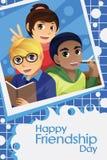 Niños que celebran día de la amistad Foto de archivo libre de regalías