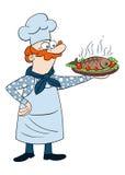 Niños que colorean la cocina de la página stock de ilustración