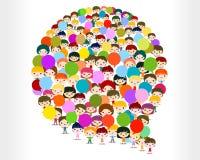 Niños que hablan en una burbuja Imagen de archivo libre de regalías