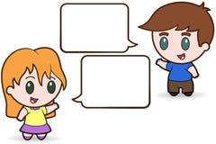 Niños que hablan - ilustración Imágenes de archivo libres de regalías