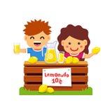 Niños que hacen el dinero Empresario joven stock de ilustración