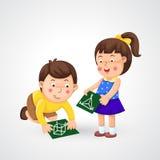 Niños que hacen la preparación ilustración del vector