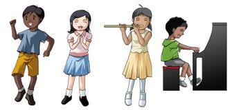 Niños que juegan música Imagen de archivo libre de regalías