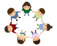 Niños que llevan a cabo las manos Imágenes de archivo libres de regalías