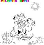 Niños que montan un camello Imagen de archivo libre de regalías