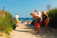 Niños que se divierten en verano Foto de archivo libre de regalías